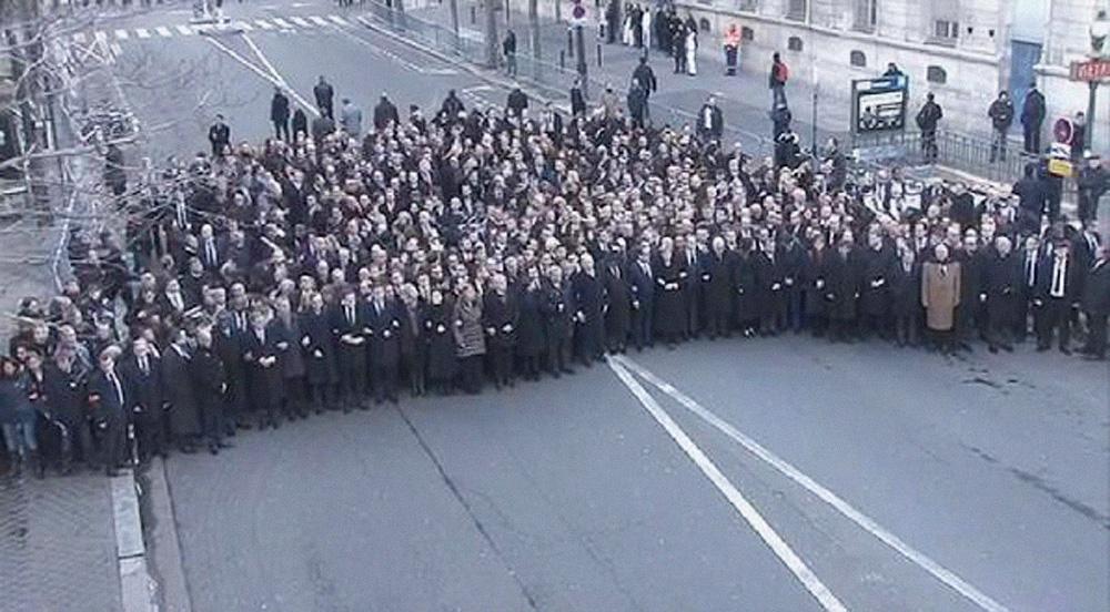 Charlie Paris Leaders march