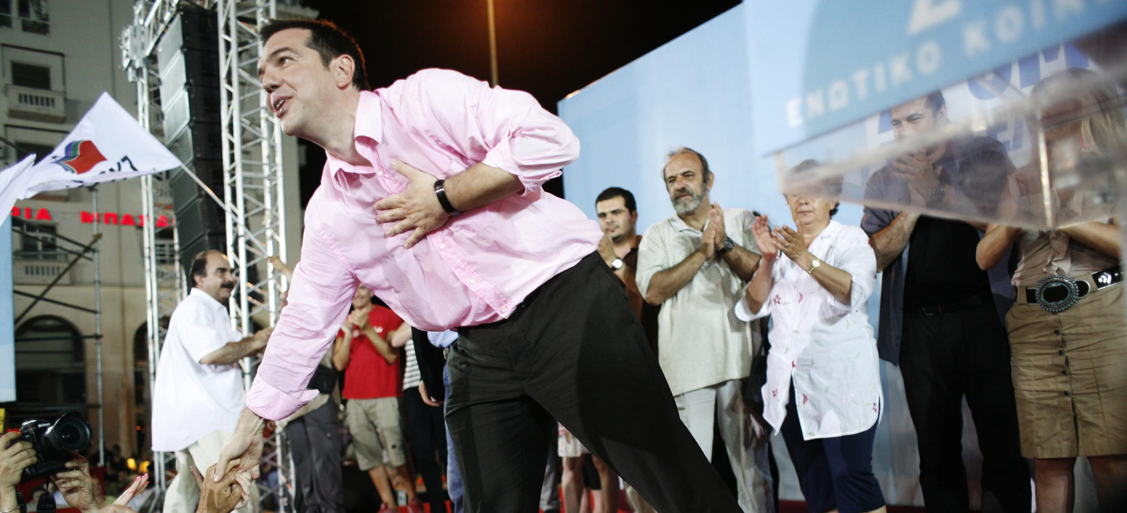 Coalition of the Radical Left, Syriza, leader Alexis Tsipras addresses supporters during pre-election rally in Thessaloniki. / Ομιλία του Αλέξη Τσίπρα σε προεκλογική συγκέντρωση του ΣΥΡΙΖΑ στην Θεσσαλονίκη.