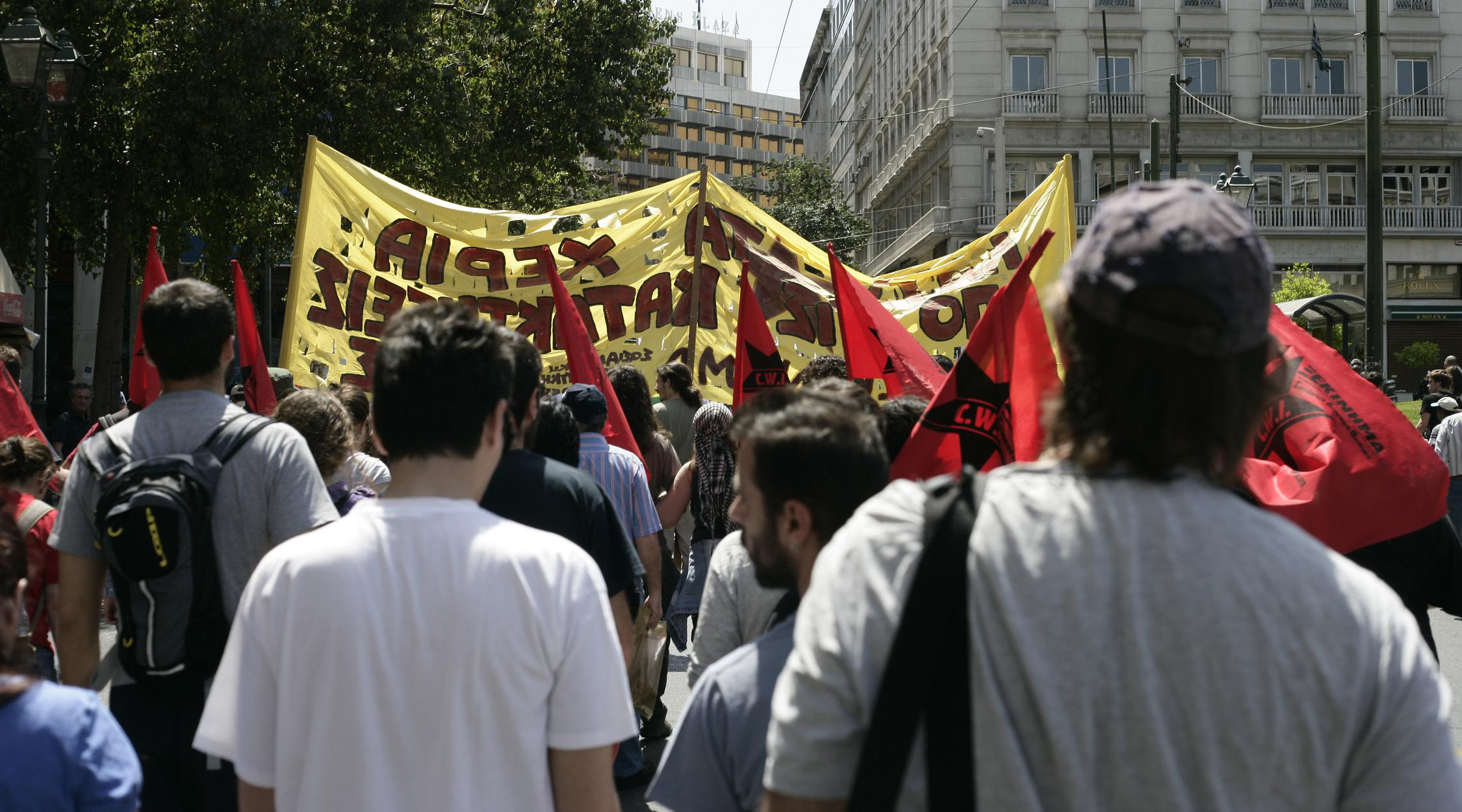 The  1st of May was celebrated in Athens with a demonstration organized by many syndicates and organizations / Πορεία για τον εορτασμό της πρωτομαγιάς που διοργάνωσαν φορείς και συνδικάτα