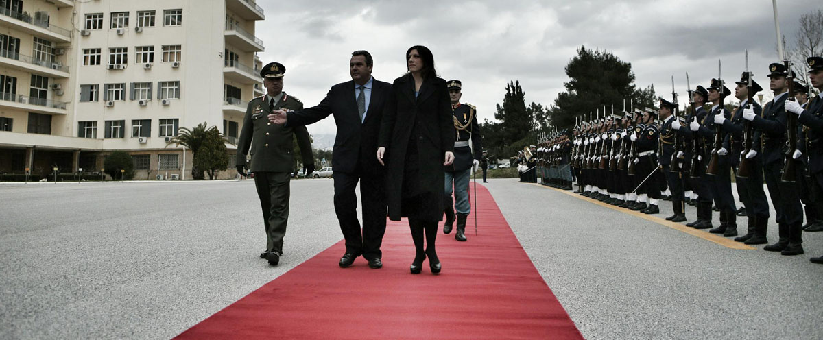 Meeting of the greek Minister of Defence Panos Kammenos and the President of the greek Parliament Zoi Konstantopoulou, in Athens, on March 10, 2015 / Συνάντηση του Υπουργού Άμυνας Πάνου Καμμένου με την Πρόεδρο της Βουλής, Ζωή Κωνσταντοπούλου, στην Αθήνα, στις 10 Μαρτίου, 2015