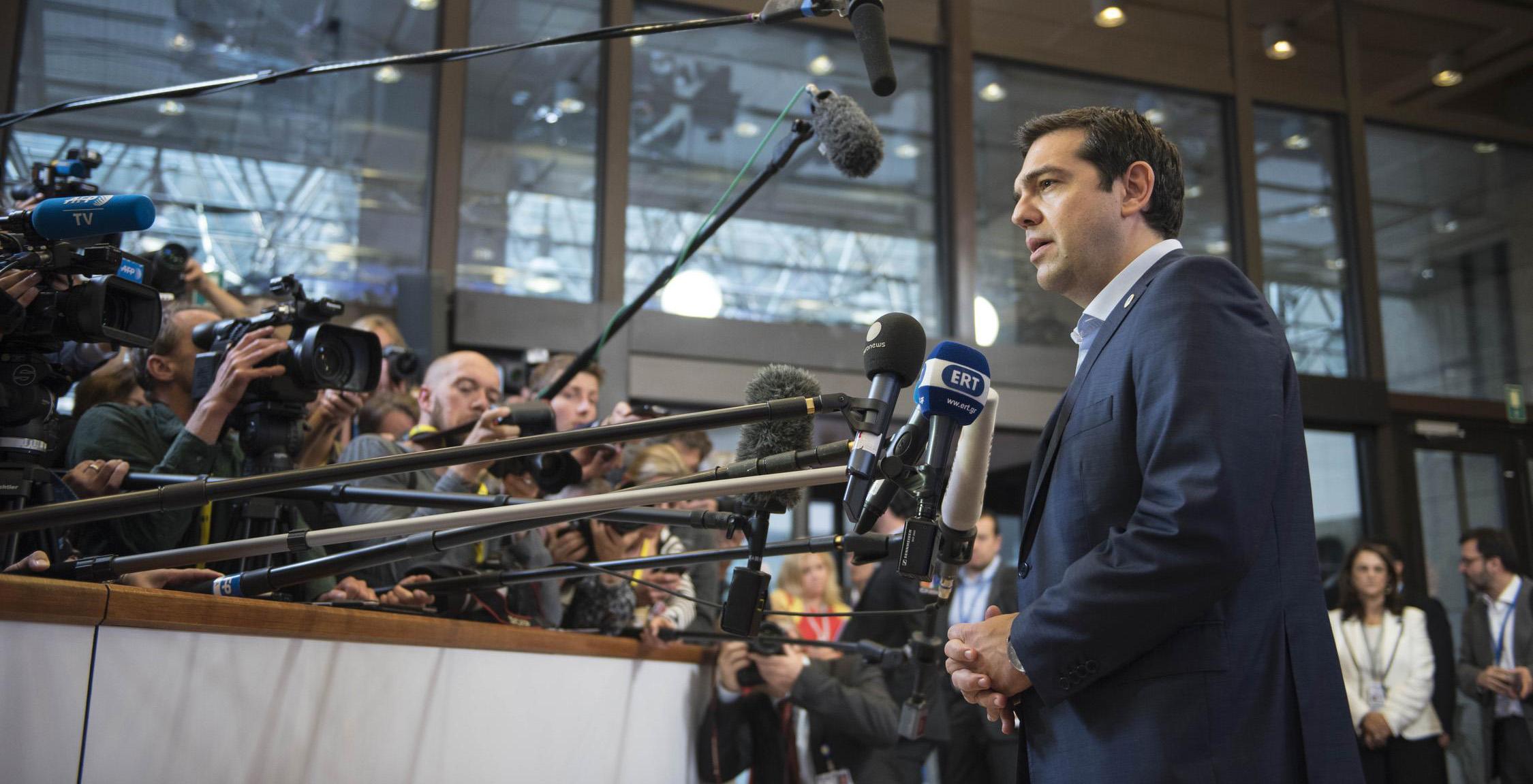 Statements by Alexis Tsipras after the completion of the European summit , Brussels, on 13 July,2015 / Δηλώσεις του Αλέξη Τσίπρα μετά την ολοκλήρωση της Συνόδου Κορυφής της Ευρωζώνης, Βρυξέλλες, στις 13 Ιουλίου, 2015