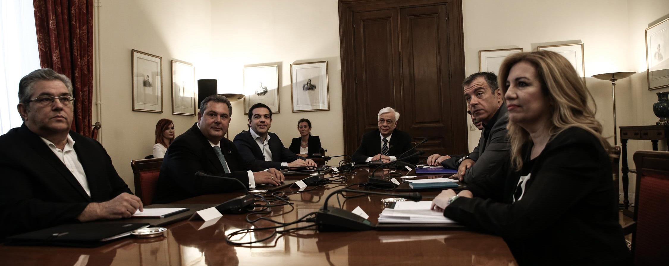Meeting of the council of the political leaders, at the Presidential Mansion, in Athens, on July 6, 2015 / Συμβούλιο των πολιτικών αρχηγών, στο Προεδρικό Μέγαρο, Αθήνα, στις 6 Ιουλίου, 2015