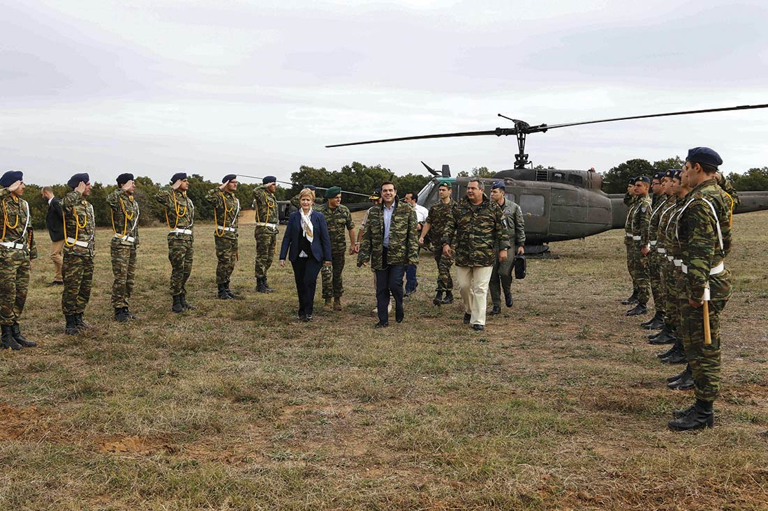 Prime Minister at military excersize Parmenion 2015, in Alexandroupoli, on Oct. 9, 2015 / Ο Πρωθυπουργός στην Αλεξανδρούπολη για την Άσκηση Παρμενίων 2015, στις 9 Οκτωβρίου, 2015