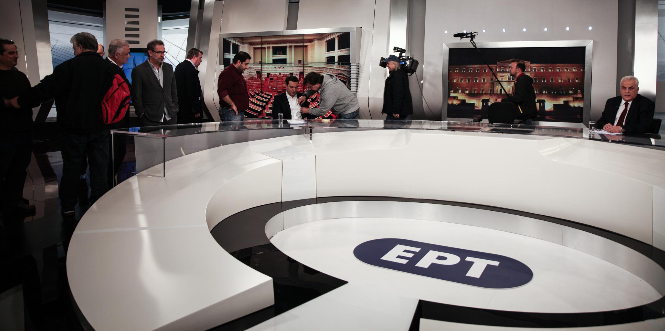 Interview of Greece's Prime Minister Alexis Tsipras, at the state broadcaster ERT, in Agia Paraskevi, Athens, on December 7, 2015 / Συνέντευξη του Πρωθυπουργού Αλέξη Τσίπρα, στα στούντιο της ΕΡΤ, στην Αγία Παρασκευή, Αθήνα, στις 7 Δεκεμβρίου, 2015
