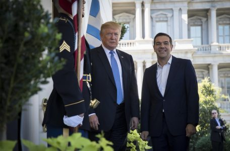 Meeting of Donald Trump with Alexis Tsipras, at the White hHouse, on Oct. 17, 2017