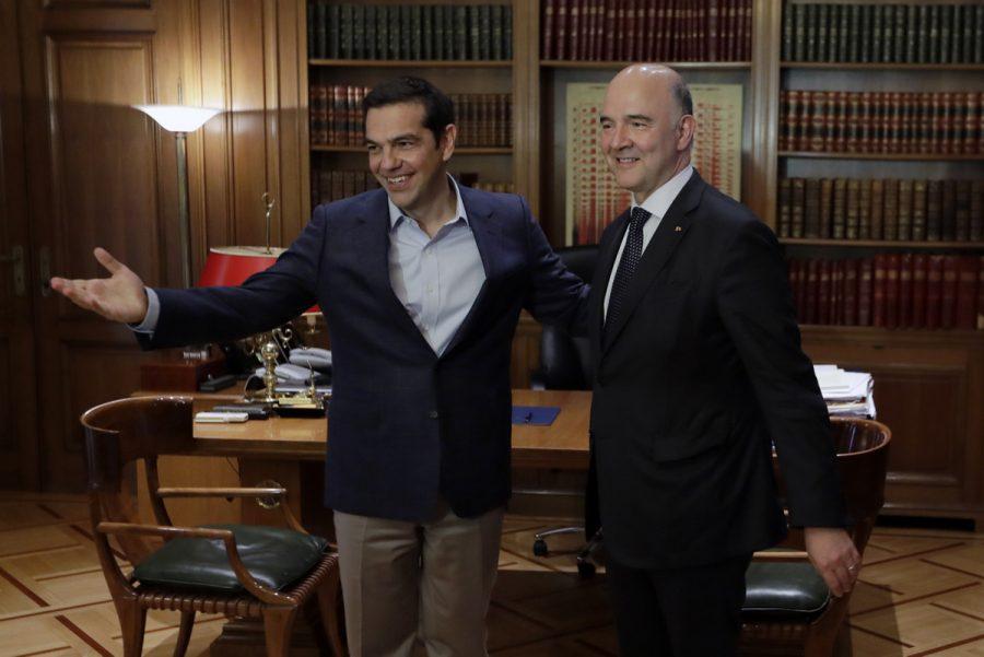 Alexis Tsipras, Pierre Moscovici