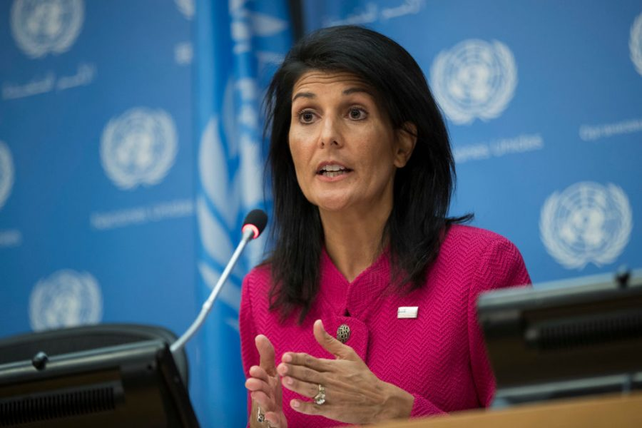 US Ambassador To The UN Nikki Haley Holds News Conference At The United Nations
