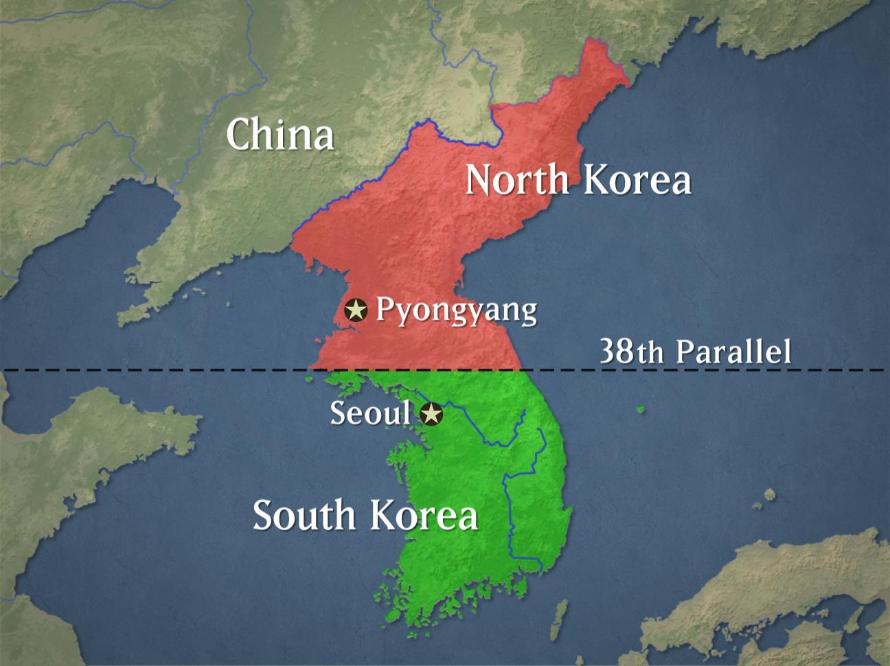North-and-South-Koreamap